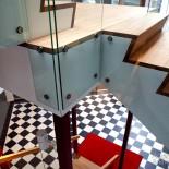 Detalj av vår ritade trappa