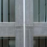 Detaljbild på utformning av skarvar mellan betongelement